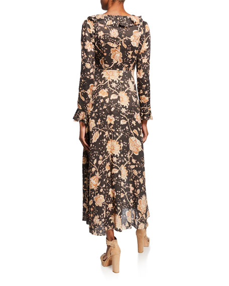 380be2c353b Zimmermann Veneto Floral Frill-Trim Maxi Dress