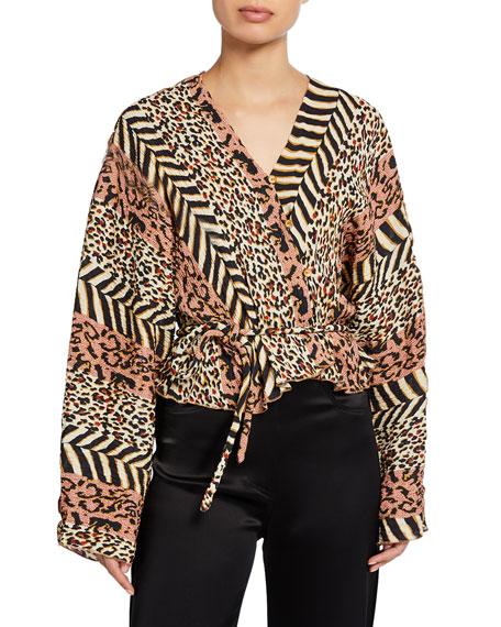 Ehara Button-Front Kimono Top