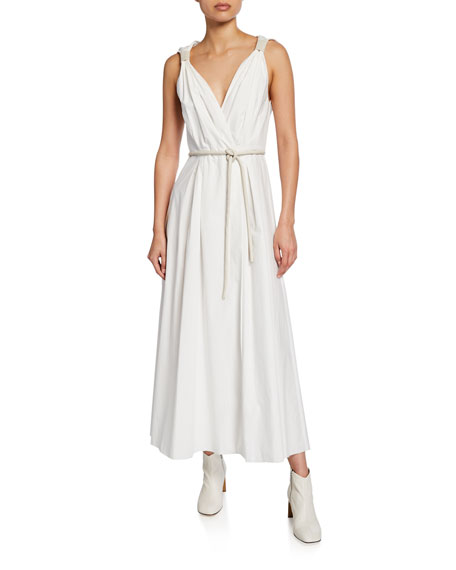 Lilith Sleeveless Poplin Maxi Dress