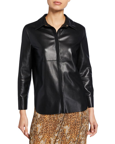 Naum Vegan Leather Top