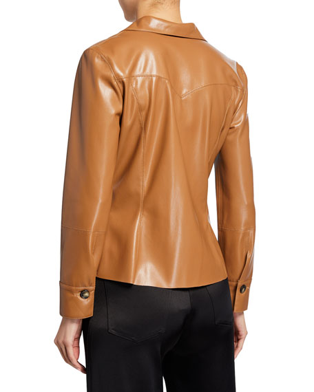 Poppy Vegan Leather Top
