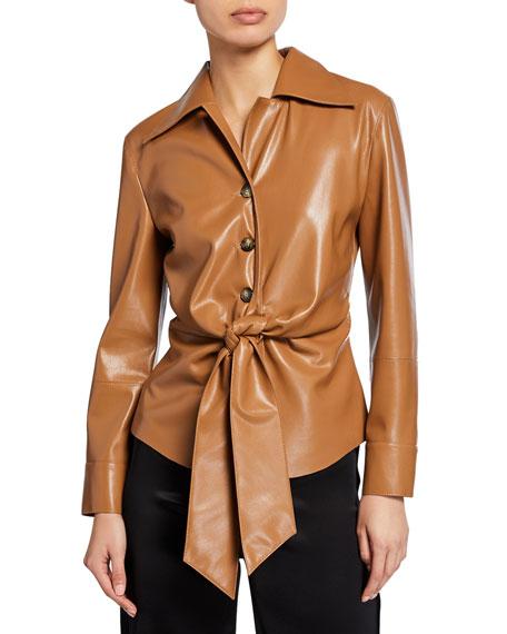 Poppy Vegan Leather Top