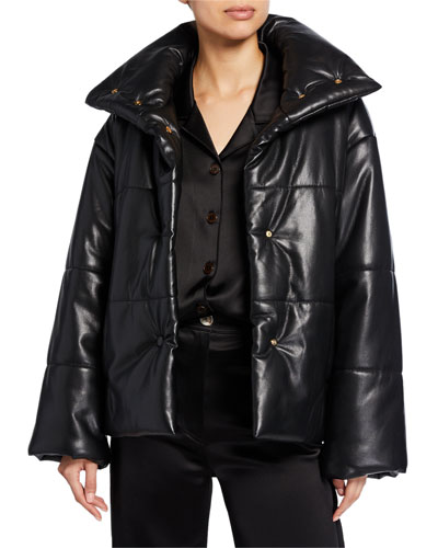 Hide Vegan Leather Puffer Jacket