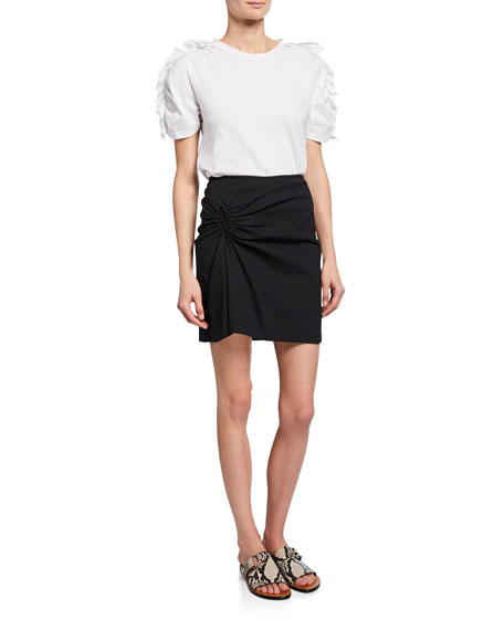 Burke Ruched Mini Skirt