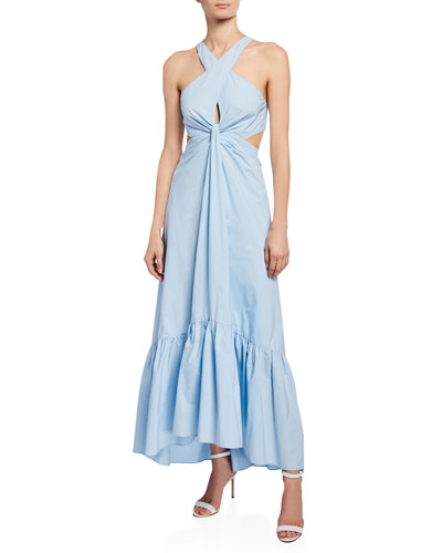 Lansbury Cutout Halter Maxi Dress