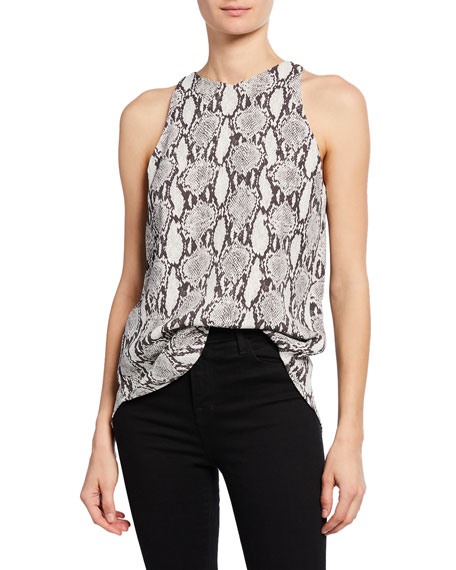 A.l.c Tops ANISE SLEEVELESS SNAKE-PRINT TOP