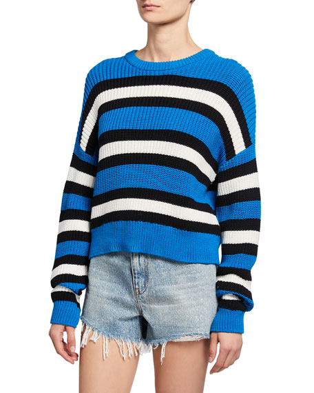 A.l.c Sweaters MATTHEWS STRIPED PULLOVER SWEATER
