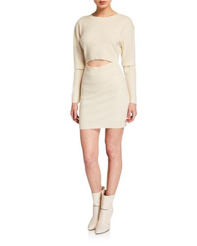 Devlin Wool-Cashmere Cutout Dress