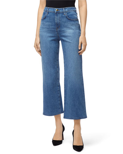 Joan High-Rise Cropped Selvedge Jeans