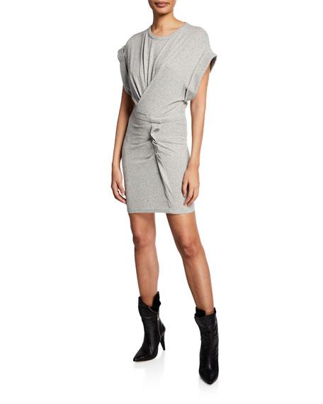 Wynot Gathered Jersey Short Dress