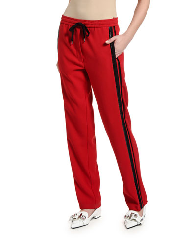 Side-Stripe Drawstring Sweatpants