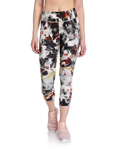 Speedpocket Printed Cropped Running Tights