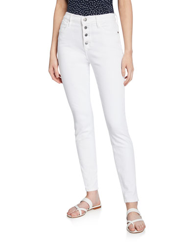 Le High Skinny Jeans with Button Fly