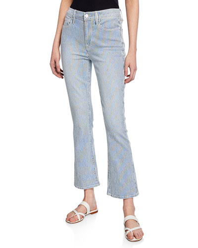 Engineer Stripe Crop Mini Boot-Cut Jeans