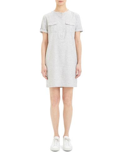 Lina Short-Sleeve Button-Front Tierra Wash Dress
