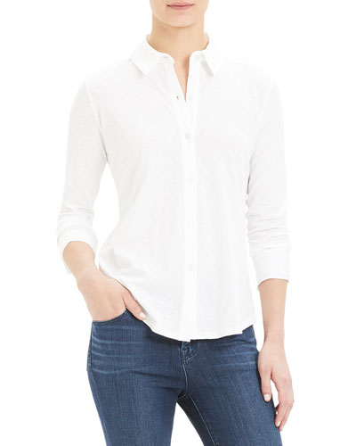 06ab2b5fda6 Riduro Button-Down Long-Sleeve Slub Cotton Shirt