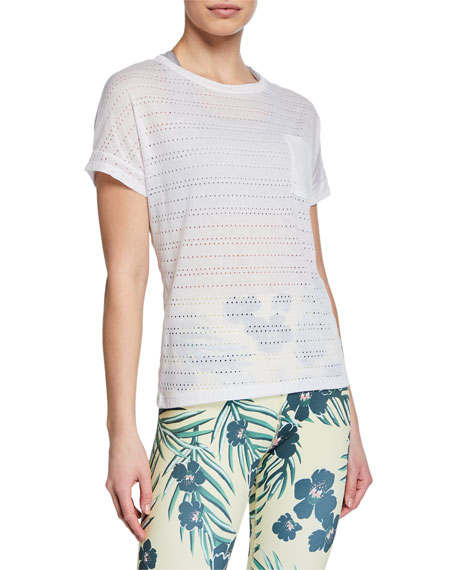 Off Cuff Perforated Short-Sleeve Pocket Tee