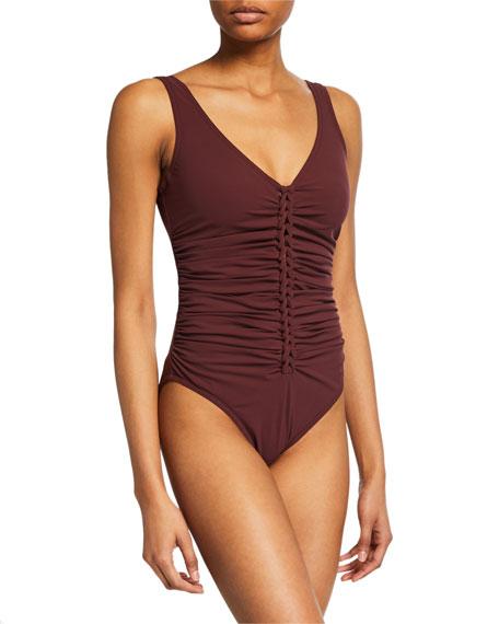 Karla Colletto Joana V-Neck One-Piece Swimsuit