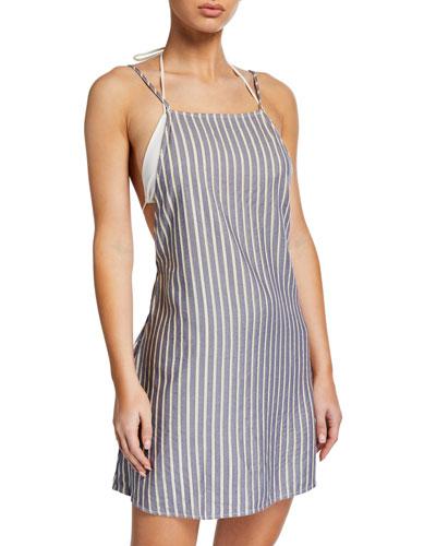 Sasha Striped Coverup Mini Dress