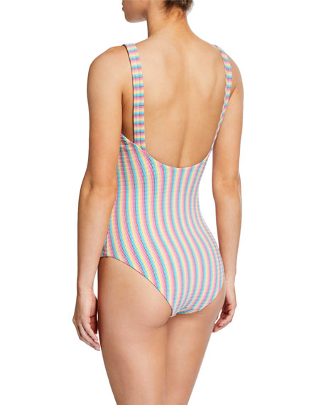 Archie Striped One-Piece Swimsuit