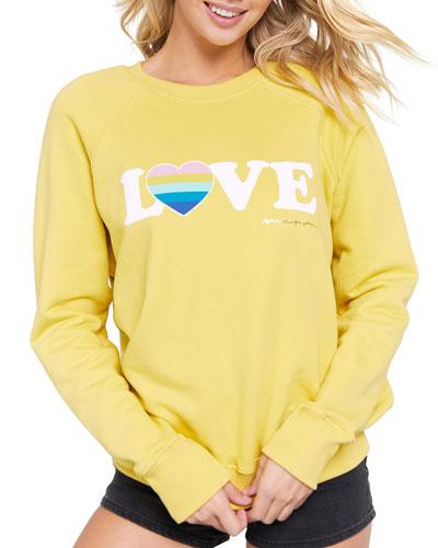 Love Printed Long-Sleeve Sweatshirt