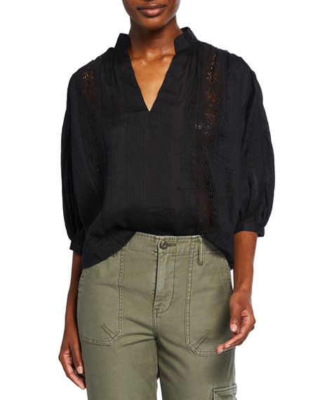 Frame Tops CALI LACE POPOVER TOP