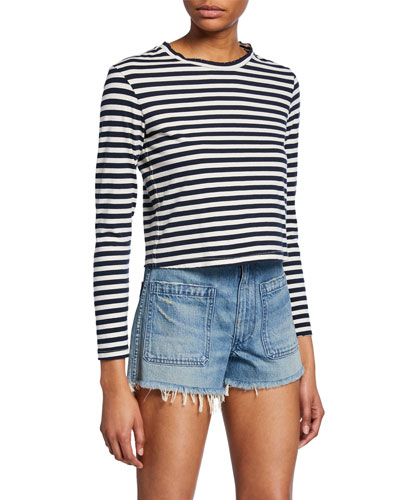 Babe Striped Long-Sleeve Tee