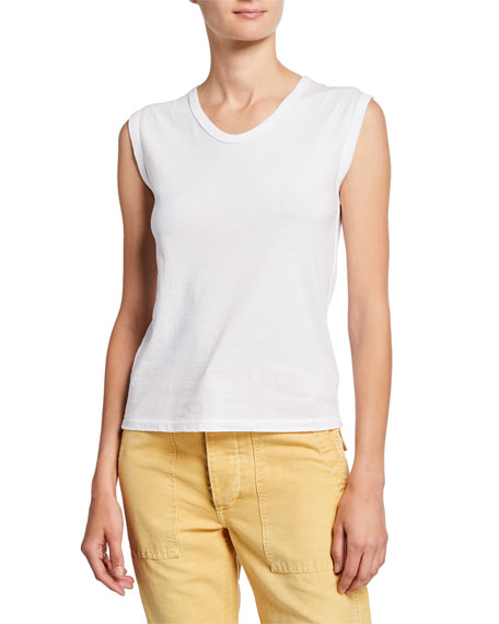 Scoop-Neck Cotton Muscle Tank