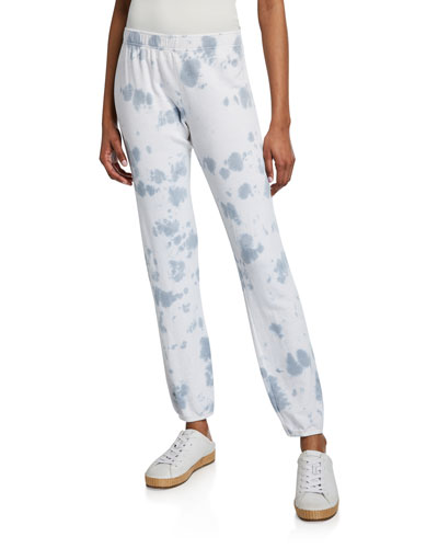 Cloud Tie-Dye Elastic-Waist Sweatpants
