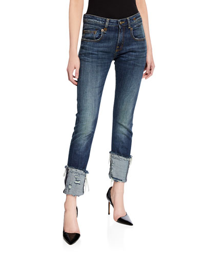 Boy Distressed Skinny Jeans with Cuffs