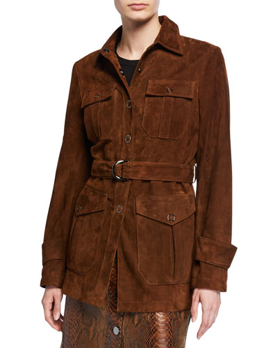 Dixie Belted Lamb Suede Jacket