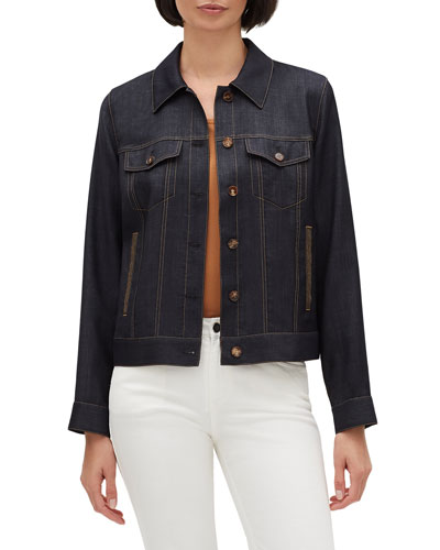 Emily Button-Front Wool Jacket