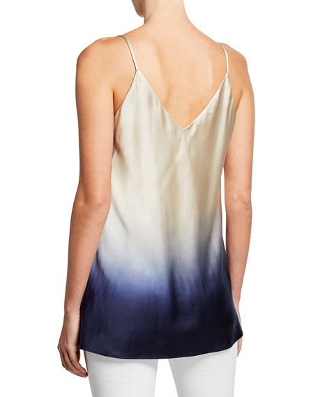 Eva Ombre V-Neck Silk Tank Top
