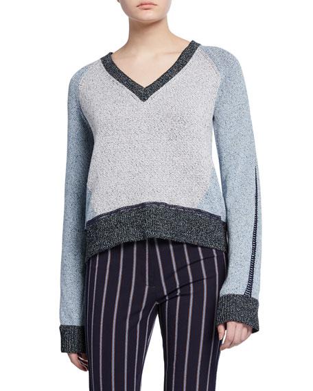 Colorblock V-Neck Sweater
