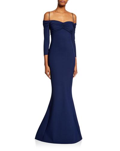 c455a29e Hela Sweetheart Cold-Shoulder 3/4-Sleeve Mermaid Gown Quick Look. Chiara  Boni La Petite Robe