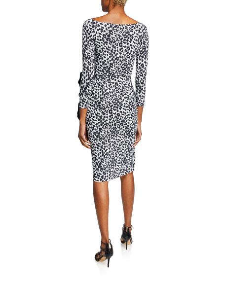 Zelma Side-Shirred Printed Dress