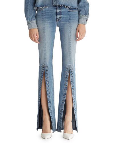 Nico Mid-Rise Slit Cigarette Jeans