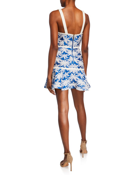 Lisel Palm-Print Dress