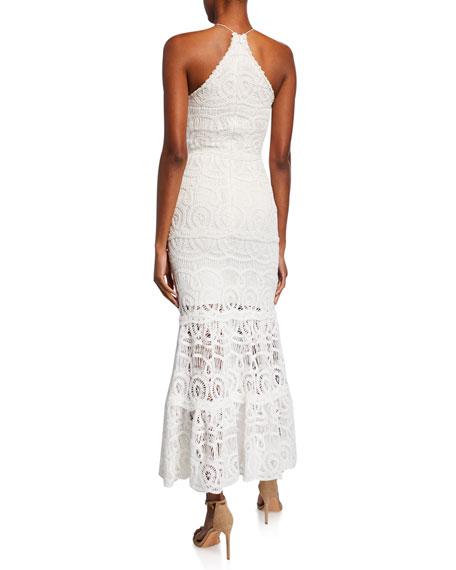 Yvonna Crocheted Halter Dress