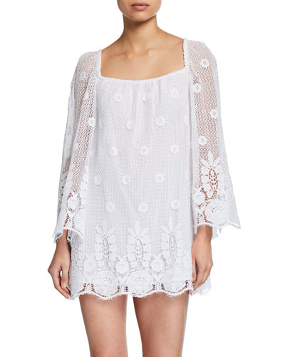 Nicolette Sheer Lace Coverup Dress