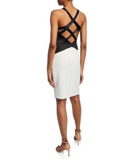 Sleeveless Halter-Neck Dress with Strap Detail