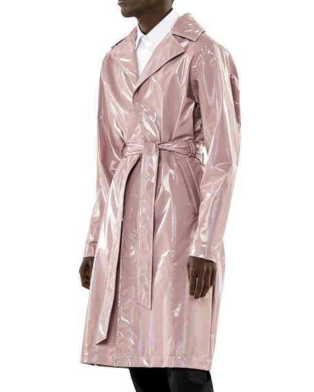 Rains HOLOGRAPHIC OVERCOAT W/ BELT