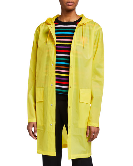 Water-Resistant Long Matte Jacket