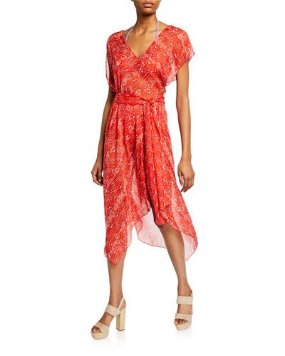 8f1bc6b2101 Serena Snake-Print Handkerchief Coverup Dress Quick Look. Diane von  Furstenberg