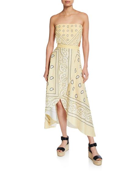 Miguelina Dresses INES STRAPLESS BANDANA DRESS