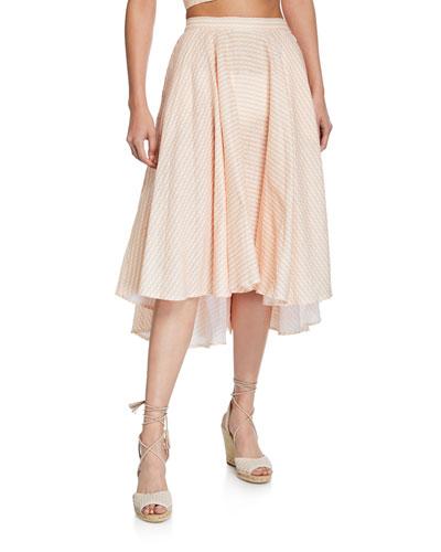Jackie Gingham Linen Skirt