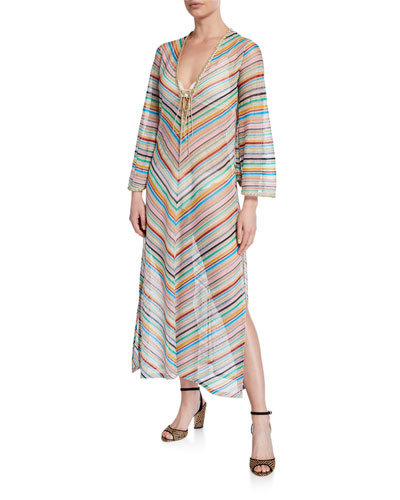 d2b110ea0b Stripped Long-Sleeve Coverup Dress Quick Look. Missoni Mare