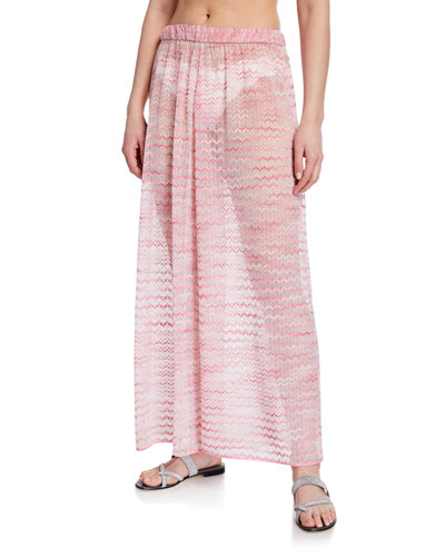 Wide-Leg Pull-On Coverup Pants