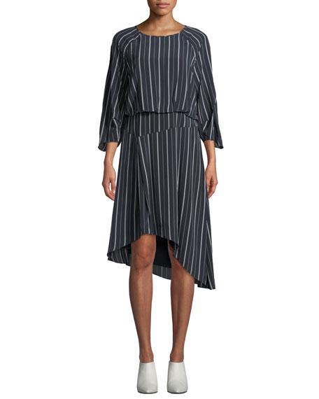 Gabisa Asymmetric Striped Dress
