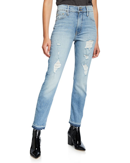 FRAME Heritage Sylvie Released Hem Jeans